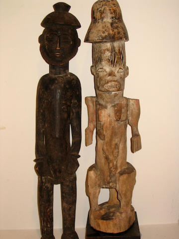 Four Nigerian items and a Senufo figure 5
