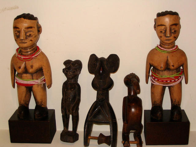 Nine African Carvings 9