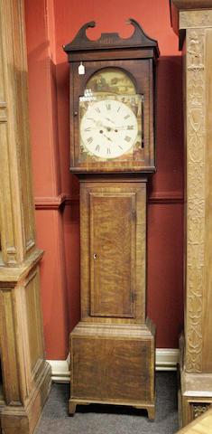 An early 19th century mahogany and inlaid longcase clock, Robert Harris, Paisley,