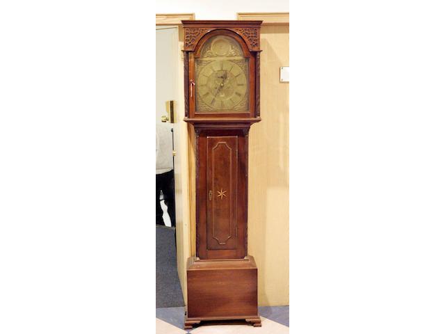 A George III  mahogany longcase clock, John Donaldson, Airdrie