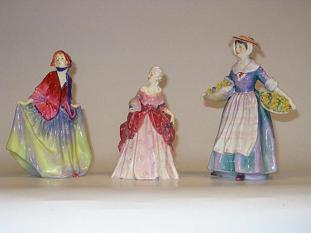 Figurines Daffy-Down Dilly, Sweet Anne and Fleurette HN1713, 1935-49, HN1331, 1929-49 and HN1587, 1933-49 (3)