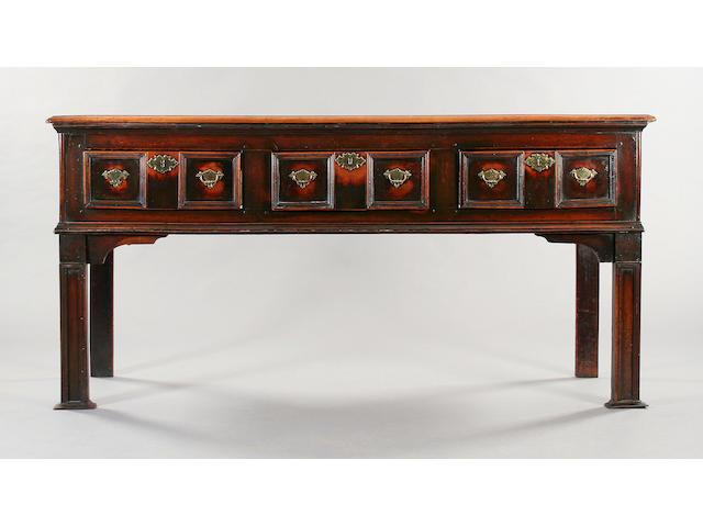 A rare 18th Century applewood dresser base