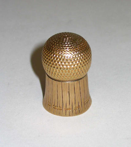 The gold 'Thistle Thimble'