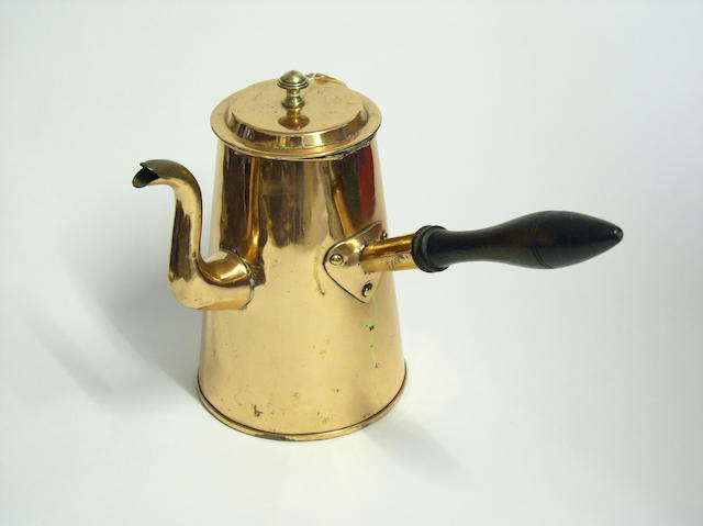 An early 19th Century copper coffee pot,