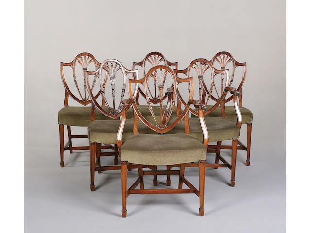 A set of six 19th century mahogany dining chairs