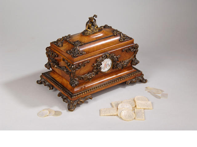 A late 19th Century French kingwood casket by Tahan