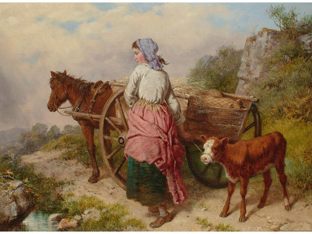 Isaac Henzell (British fl. 1854-1875) On the way to market, 30 x 40cm (11 3/4 x 15 3/4in)
