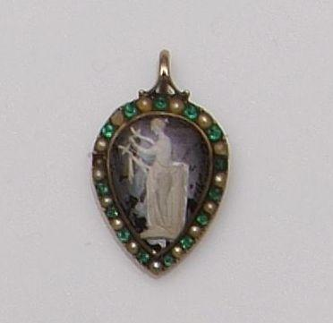 A late 18th Century heart-shaped memorial pendant