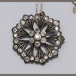 A late Victorian diamond set pendant/brooch