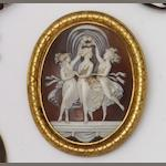 A Victorian agate and pearl memorial brooch