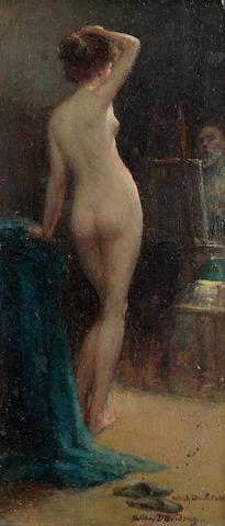 Allan Douglas Davidson (British 1873-1932) The model 17 x 8 cm. (6 3/4 x 3 1/4 in.)