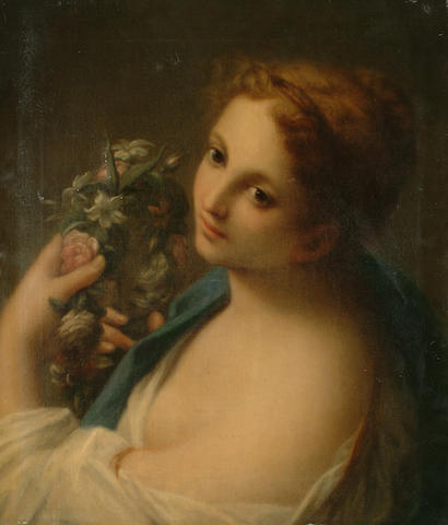 After Francesco Mancini (19th Century) Flora, 51 x 44cm (20 x 17 1/4in)