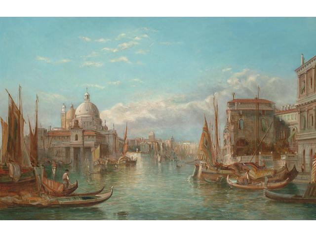 Alfred Pollentine (British fl.1861-1880) The Ducal Palace, Venice; S. Maria della Salute, Venice each 41 x 61cm (16 x 24in)(2)