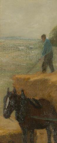 J. Hermiston Haig (British, fl.1887-1919) 'In Harvest Time', 30 x 12.2cm (11 7/8 x 4 3/4in)
