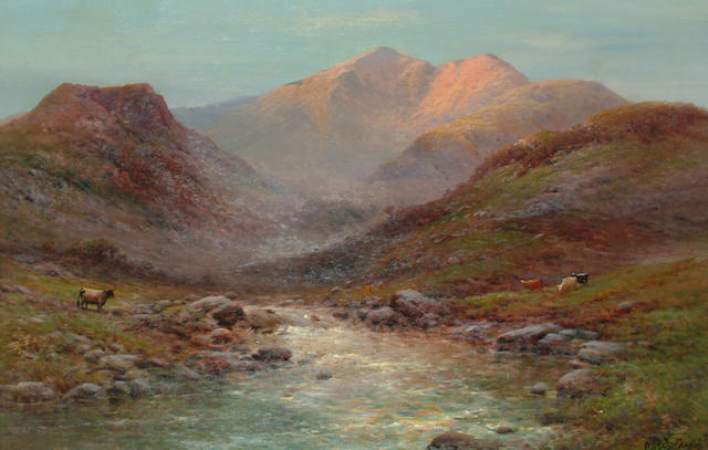 Alfred de Breanski Jnr. (British, 1877-1945) 'At the head of Nant Francon, N. Wales', 48 x73cm (18 7/8 x 28 3/4in)