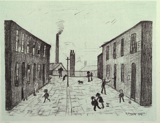 Laurence Stephen Lowry (1887-1976) 'Francis Terrace, Salford' 47.5 x 61cm.