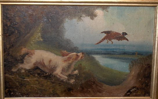 Attributed to Langlois Setters flushing pheasants (3)