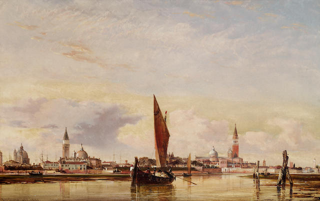 Edward William Cooke, RA (British 1811-1880) Venice, looking from the lagoon towards the Giudecca 28