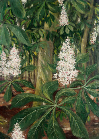 Christopher Richard Wynne Nevinson A.R.A (1889-1946) Flowering Chestnuts 76.4 x 56 cm. (30 x 22 in.)