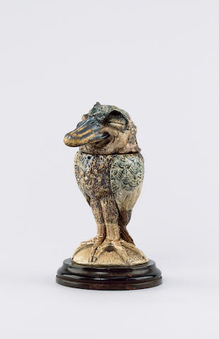 Martin Brothers A Stoneware Grotesque Bird Jar and Cover, 1889/1890