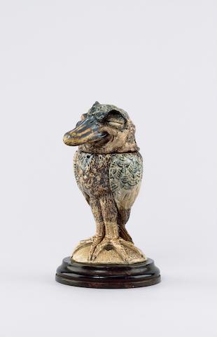 Martin Brothers A Stoneware Grotesque Bird Jar and Cover, 1889/1890