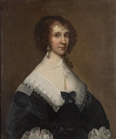 Cornelius Janssens van Ceulen (London 1593-1664 Utrecht) Portrait of a lady, said to be Miss Sumaretz, half-length, 77.7 x 65 cm. (30 5/8 x 25 5/8 in.)