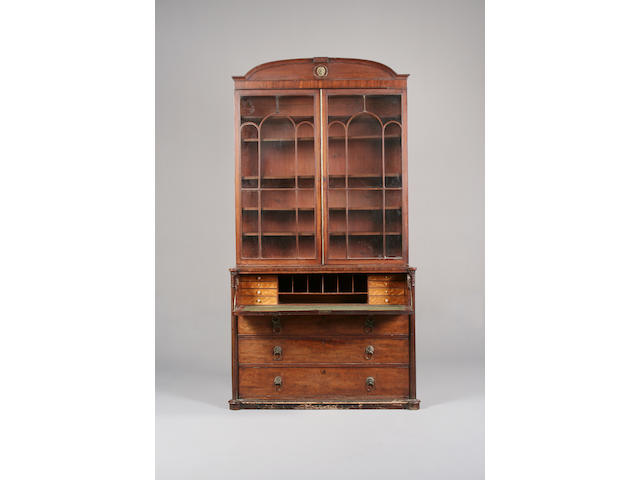 A Regency mahogany secretaire bookcase