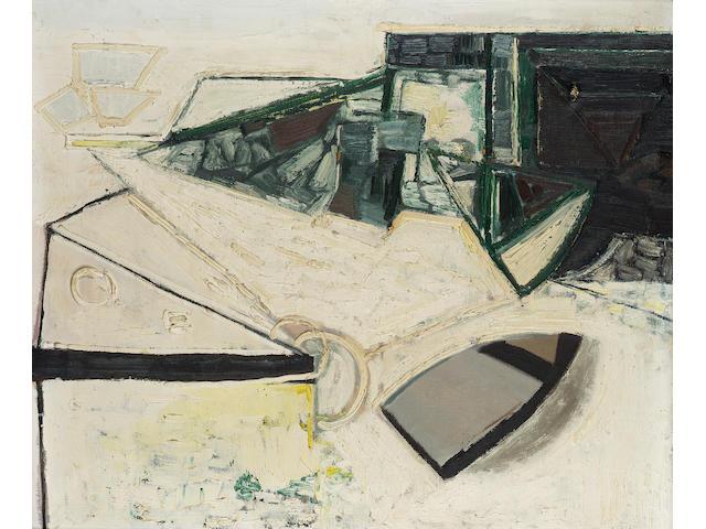 Paul Feiler (b.1918) Porthcurno Beach 56 x 65.7 cm. (22 x 25 7/8 in.)
