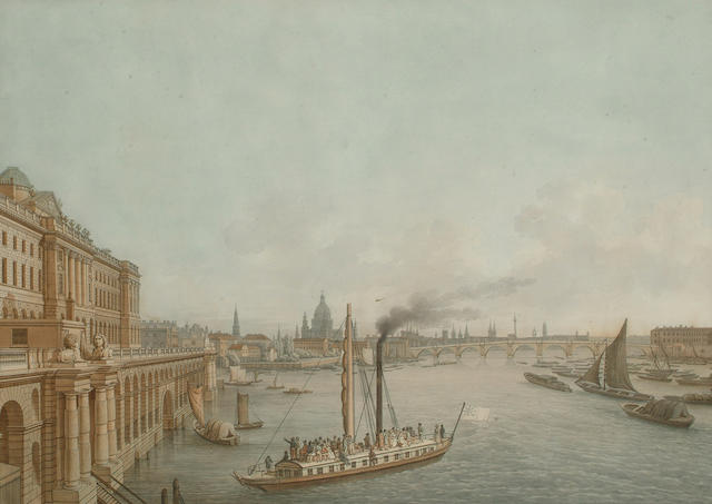 C. G. Hammer London from Somerset House, (I) 36.5 x 51cm (14 3/8 x 20 1/8in)