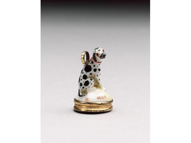 A St James's (Charles Gouyn) dalmatian seal, circa 1751-59,