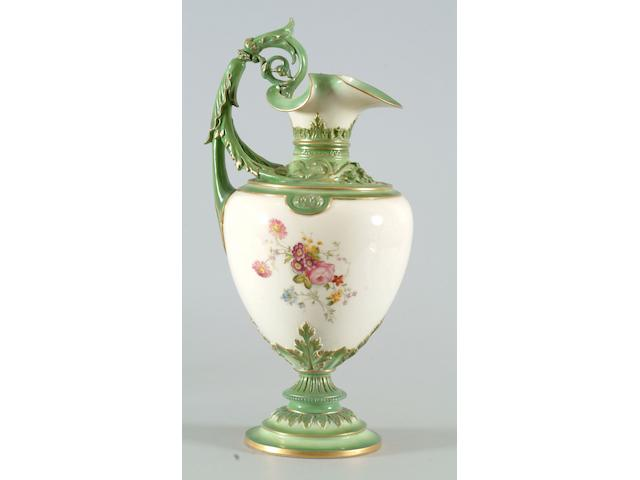 A Royal Worcester ewer