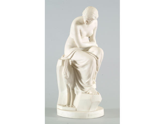 A Minton parian porcelain figure of 'Solitude'