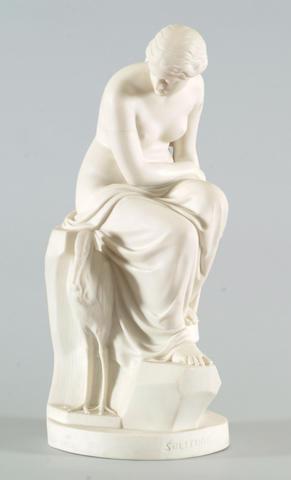 A Minton parian porcelain figure of 'Solitude'