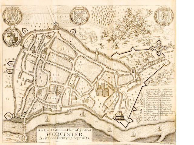BLOUNT (THOMAS) Boscobel: Or, the History of His Sacred Majesties Most Miraculous Preservations after the Battle of Worcester, 3 parts