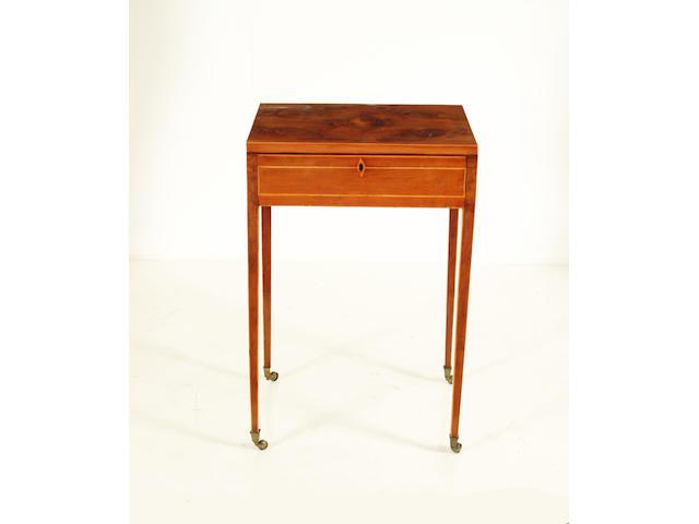 A George III yew wood work table
