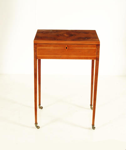 A George III yew wood work table