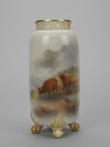 A Royal Worcester vase by Harry Stinton