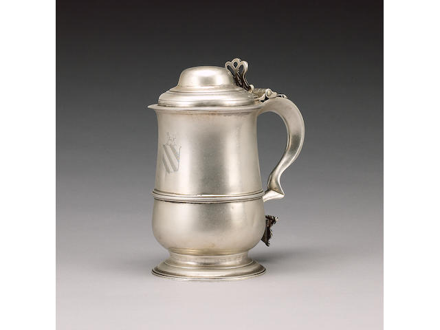 An early George III silver tankard, by John King, London 1768,
