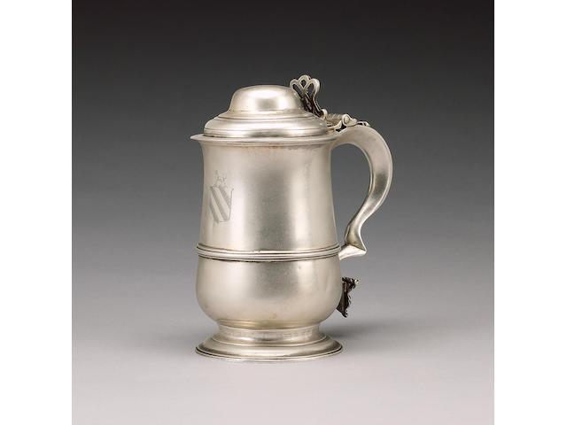An early George III silver tankard, by John King, London 1768,