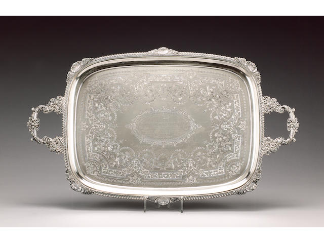 A late Victorian silver two-handled tray, by William Mammatt & Son, Sheffield 1899,