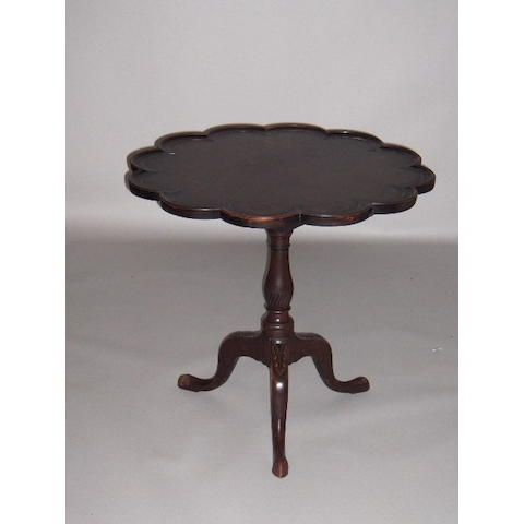 A George III style mahogany occasional table,