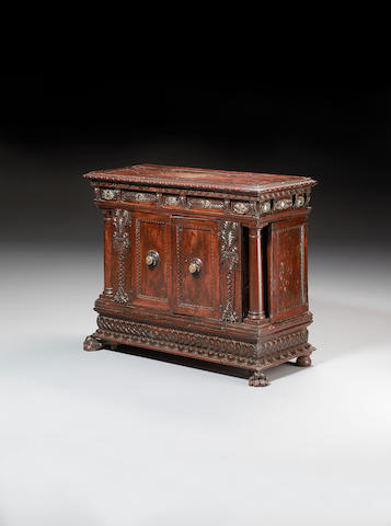 A Tuscan carved walnut Credenza