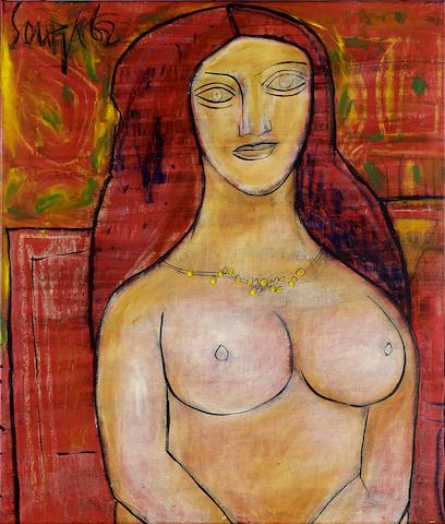Francis Newton Souza (India, 1924-2002) Female Nude