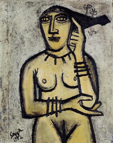 Francis Newton Souza (India, 1924-2002) Nude