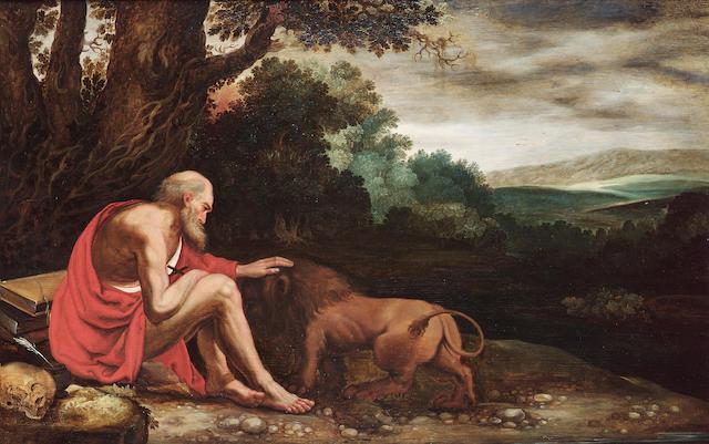 Johann Koenig Saint Jerome 55.6 x 87.4 cm. (22 5/8 x 34 3/8 in.)