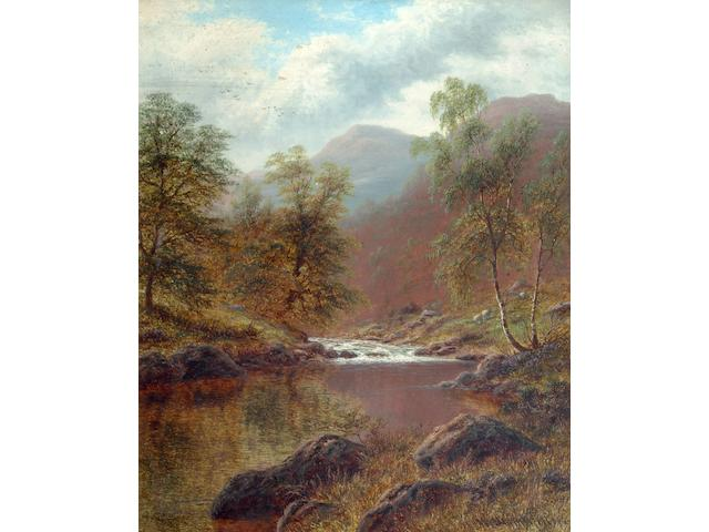 William Mellor (1851-1931) 'On the Lledr, North Wales' 61 x 52.5cm.