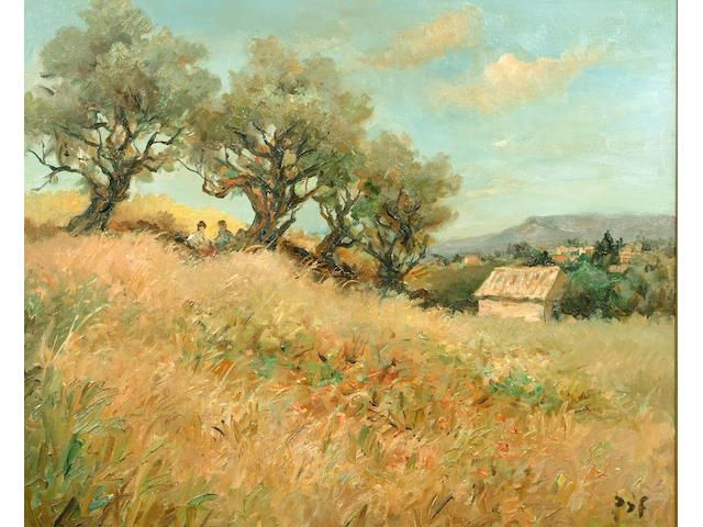 Marcel Dyf 'Oliviers (Provence)' 60 x 75cm.