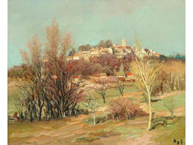 Marcel Dyf (1899-1985) 'Neauphle le Chateau, pres Bois d'Arcy' 45 x 56cm.
