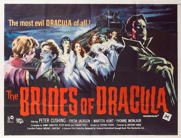 Brides of Dracula, The 1960 UK Quad