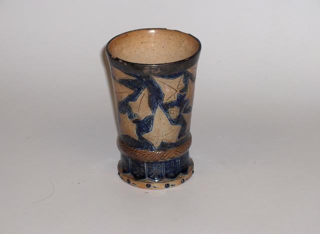Robert Wallace Martin An Early Stoneware Beaker, 1873